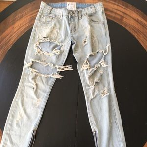 One Teaspoon Jeans Trashed Free Birds